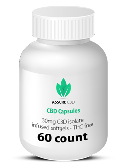 CBD capsules 30mg CBD isolate infused softgels assure